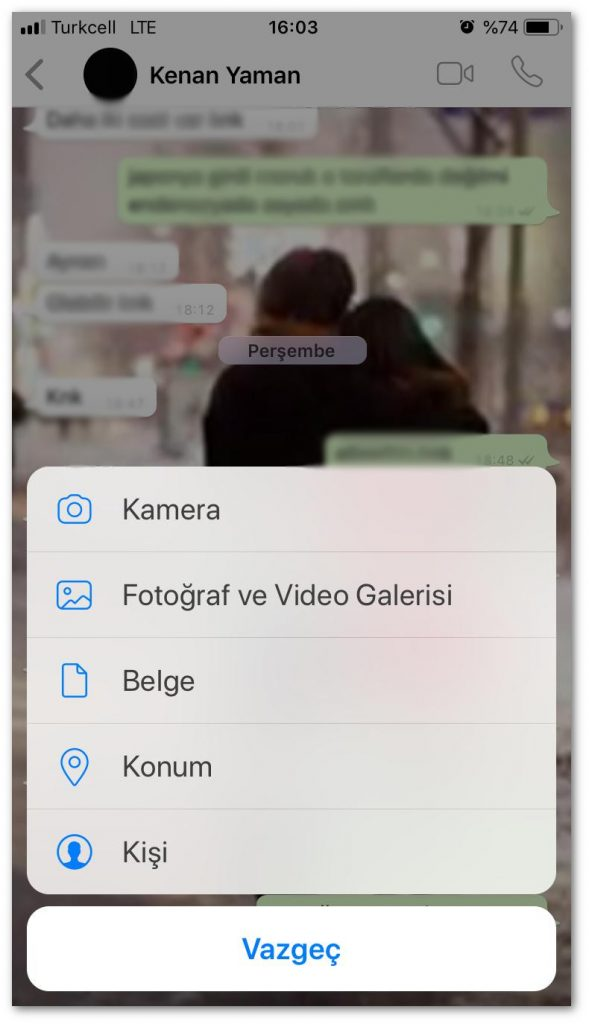 Press 2 Location button to send iphone location